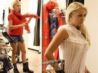 Barbora Rakovská počas nákupov siahla napríklad po krátkych šortkách aj priesvitnom tope.