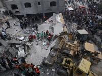 Pásmo Gazy sa po útokoch Izraela mení na trosky.