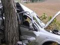 Tragická nehoda: Náraz do stromu neprežili dvaja mladíci