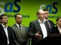Členovia strany SaS Ľubomír