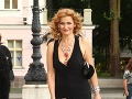 Moderátorka Katarína Brychtová si obliekla šaty s hlbokým výstrihom.