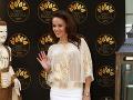 Herečka Karin Haydu si taktiež vybrala biely outfit.