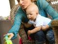 Aneta Parišková sa o malého Gabriela vzorne starala aj počas rozhovoru.