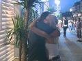 Martina a Emo sa počas večera neustále objímali.