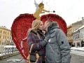 Prešov ovládol Valentín: Páry sa pokúsili o nový rekord v bozkávaní