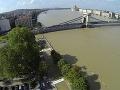 Hladina Dunaja v Budapešti