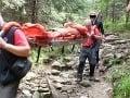 Horskí záchranári v plnom nasadení: Študent sa pošmykol a zletel do hlbokej rokliny