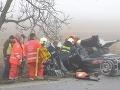 Ťažká nehoda pri Sečovciach: Čelná zrážka s nákladiakom, zasahoval vrtuľník