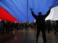 Demonštrácie v krymskom Simferopole