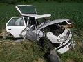 Auto skončilo v priekope, dieťa musel odviezť vrtuľník!