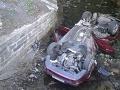 FOTO Auto vyletelo do potoka, skončilo na streche: Ľuboš (27) bojuje o život, Dušan (†45) zomrel!