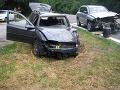 FOTO Hromadná nehoda pri Starých Horách: Zrazili sa tri autá, vodič (25) skončil v nemocnici