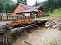 Po silnej búrke a povodni neevidujú v Terchovej nezvestných ľudí