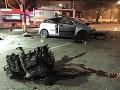 FOTO Tragickej rannej nehody v Bratislave: Ivan (†26) napálil pri benzínke priamo do stĺpa!
