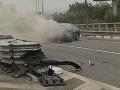 Hororová dopravná nehoda v Bratislave: EXKLUZÍVNE VIDEO BMW po salte zhorelo do tla
