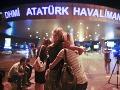 Výbuch na letisku v