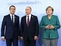 Merkelová, Macron a Putin rokovali o konflikte na Ukrajine: Urovnaniu sa nepriblížili