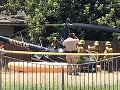 Nešťastie v Los Angeles: Vrtuľník sa zrútil priamo na ulicu