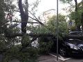 Dôsledky veternej smršte v Bratislave, v okolí Krížnej ulice