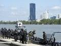 FOTO Dunaj zažil cvičenie policajtov: Pripravovali sa na prípadný teroristický útok