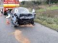Prvé FOTO z tragickej nehody na severe Slovenska: Čelná zrážka, zomrela žena
