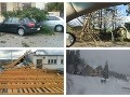 VIDEO Ničivá víchrica pustošila Slovensko: Vietor demoloval domy, napadol aj prvý sneh!