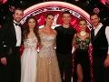 Postupujúce tanečné dvojice (zľava): Vladimír Kobielsky, Dominika Chrapeková, Silvia Lakatošová, David Schavel, Dominika Rošková, Braňo Deák.