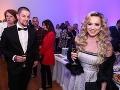 Na charitatívnom koncerte nemohla chýbať speváčka Dominika Mirgová, ktorú sprevádzal manžel Peter Zvolenský.