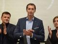 Alojz Hlina s novým županom Prešovského kraja Milanom Majerským (v strede) a primátorkou Prešova Andreou Turčanovou
