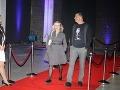 Na párty dorazila aj herečka Michaela Čobejová so scenáristom Danom Danglom.