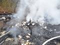 FOTO Tragické ráno v Bratislave: Chatka v plameňoch, hasiči vyniesli obhorené telo