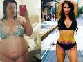 Pred a po chudnutí: