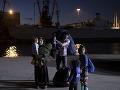 Utečenecká rodina v Grécku.
