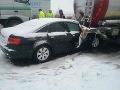 MIMORIADNA SITUÁCIA Slovensko v zajatí ľadu: FOTO Kolaps na R1, pri Trenčíne uzavreli diaľnicu