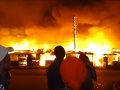 Požiar na predmestí Nairobi