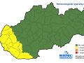Výstraha 1. stupňa na 12. januára pred tvorbou poľadovice vydaná pre Bratislavský, Trnavský a Nitriansky kraj.