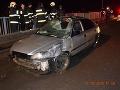 FOTO Tragická nehoda v Košiciach: Mladík zrazil chodca, následne preletel cez betónový múr