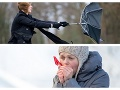 Sneh, kalamita a vietor: Čaká nás extrémne chladný víkend, VÝSTRAHY druhého stupňa!