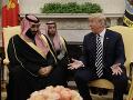 Trump sa stretol so saudskoarabským princom: Komplimenty a nákup amerických zbraní