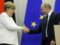 FOTO Merkelová sa stretla s Putinom v Soči: Navrhli pomoc pre Sýriu, je to niečo za niečo