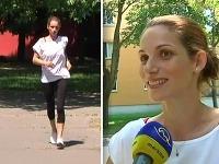 Zuzana Kanócz po pôrode rapídne schudla. Nohy má tenké ako paličky.