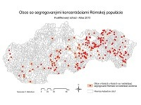 Obce so segregovanými koncentráciami Rómskej populácie