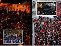 Ľudia sa zhromažďovali v Prahe aj Bratislavy, aby dali najavo nespokojnosť s politikmi