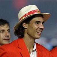 Rafael Nadal počas otváracieho ceremoniálu