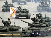 Ruské tanky na prehliadke