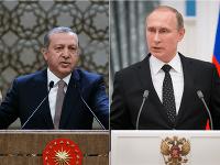 Turecký prezident Recep Tayyip Erdogan a ruský prezident Vladimír Putin.