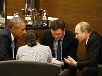 Barack Obama a Vladimir Putin.