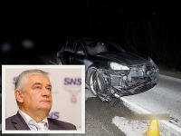 Ján Slota spôsobil nehodu