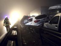 hromadná nehoda v Slovinsku
