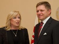 Expremiérka Radičová a premiér Fico.